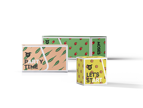Cafe Neto cakes labels